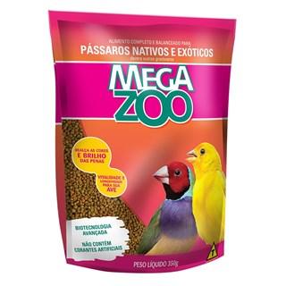 Alimento Mega Zoo Mix Exigente Para Aves Nativas e Exóticas Em Manutenção
