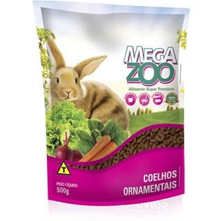 Alimento Mega Zoo Para Coelhos Ornamentais - 500g