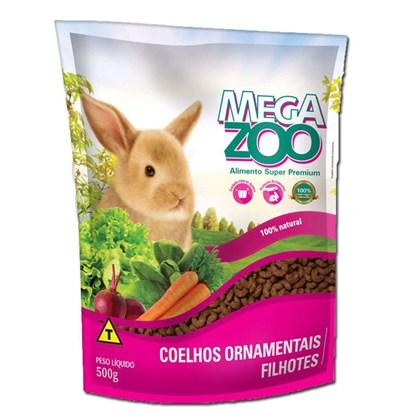 Alimento Mega Zoo Para Coelhos Ornamentais Filhotes - 500g