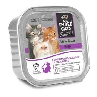 Alimento Úmido Three Cats Baby Patê Sabor Frango Para Gatos Filhotes