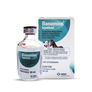 Analgésico Injetável Msd Banamine Para Equinos e Bovinos