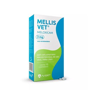 Anti-Inflamatório Avert Mellis Vet 3mg para Cães de 15kg a 30kg