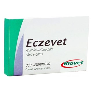 Anti-Inflamatório Biovet Eczevet Para Cães e Gatos - 12 Comprimidos