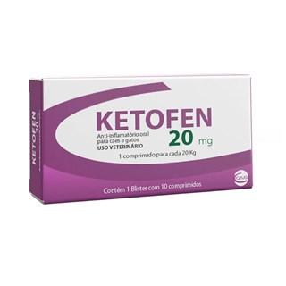 Anti-Inflamatório Ketofen Comprimidos 20mg para Cães e Gatos