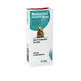 Anti-Inflamatório MSD Meticorten Vet Para Cães - 20mg