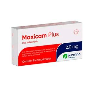 Anti-inflamatório Ourofino Maxicam Plus 2mg para Cães
