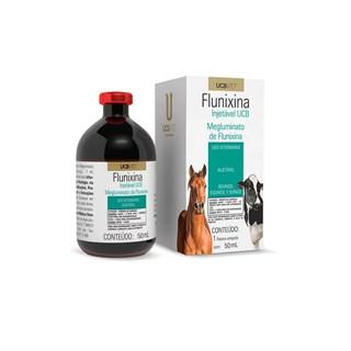 Anti-inflamatório UCBVet Flunixina Injetável para Bovinos. Equinos e Suínos