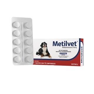 Anti-Inflamatório Vetnil Metilvet Blíster 40mg para Cães
