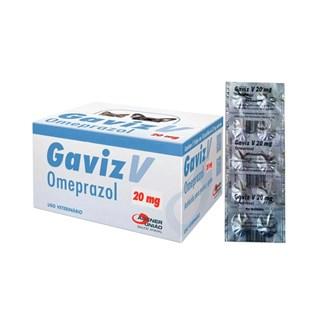 Antiácido Agener União Gaviz V Omeprazol com 5 strips de 10 Comprimidos
