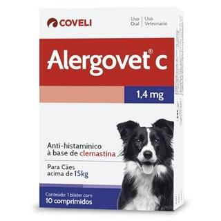 Antialérgico Coveli Alergovet C 1.4mg para Cães acima de 15kg