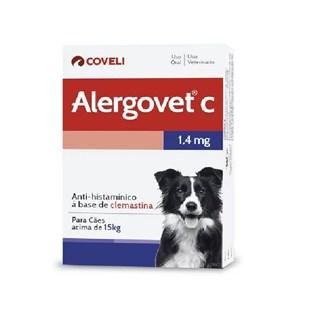 Antialérgico Coveli Alergovet c Para Cães e Gatos Até 15kg