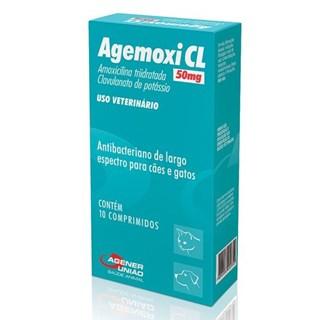 Antibiótico Agener Agemoxi Cl  Para Cães e Gatos - 10 Comprimidos