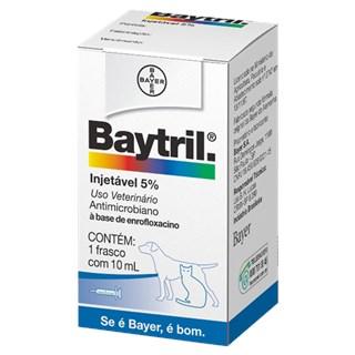 Antibiótico Bayer Baytril Enrofloxacino Injetável 5% - 10 mL