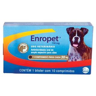 Antibiótico Ceva Enropet Para Cães - 10 Comprimidos