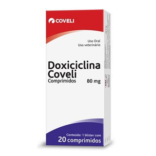 Antibiótico Coveli Doxiciclina Para Cães e Gatos - 20 Comprimidos