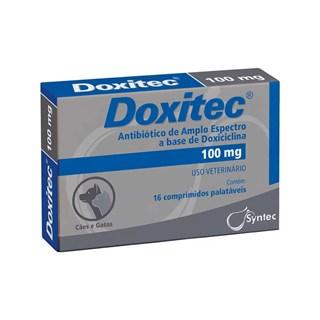 Antibiótico Syntec Doxitec para Cães e Gatos - 100mg
