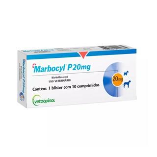 Antibiótico Vetoquinol Marbocy P 20mg para Cães e Gatos de 9 a 35kg