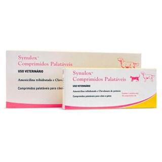 Antibiótico Zoetis Synulox Para Cães e Gatos - 10 Comprimidos
