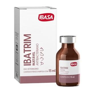 Antimicrobiano Ibasa Ibatrim Injetável Para Bovinos. Equinos. Ovinos e Suínos