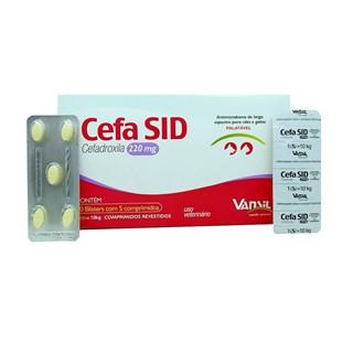 Antimicrobiano Vansil Cefa SID Cefadroxila para Cães e Gatos de 1 a 10 Kg