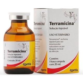 Antimicrobiano Zoetis Terramicina Injetável Para Bovinos. Suínos. Ovinos. Caprinos. Aves. Cães. Gatos e Coelhos