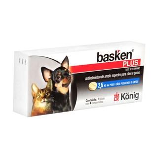 Antiparasitário Konig Basken Plus Para Cães e Gatos - 4 Comprimidos