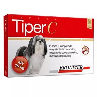 Antipulagas e Carrapatos Brouwer Tiper c Para Cães Até 15kg