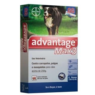 Antipulgas Bayer Advantage Max3 Para Cães Acima De 25kg