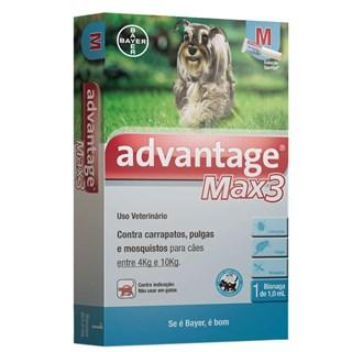 Antipulgas Bayer Advantage Max3  Para Cães Entre 4 e 10kg