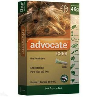 Antipulgas Bayer Advocate para Cães até 4 Kg - 0.4 mL