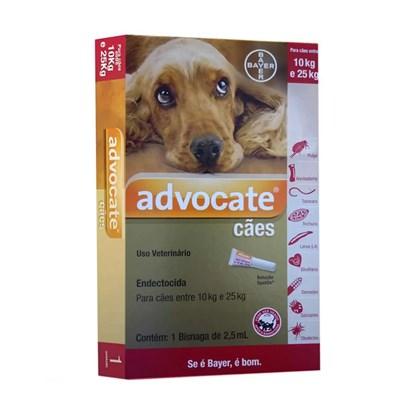 Antipulgas Bayer Advocate para Cães de 10 a 25 Kg - 2.5 mL