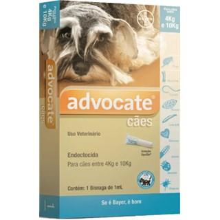 Antipulgas Bayer Advocate Para Cães Entre 4 e 10kg