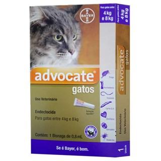 Antipulgas Bayer Advocate Para Gatos Entre 4 e 8kg