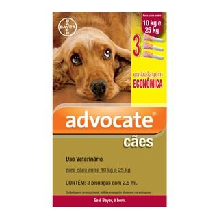 Antipulgas Bayer Combo Advocate Para Cães De 10 a 25kg