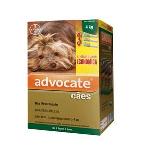 Antipulgas Combo Advocate Bayer para Cães até  4 Kg - 0.4