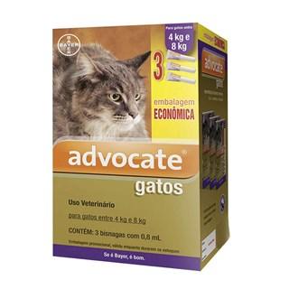 Antipulgas Combo Advocate Bayer para Gatos de 4 a 8 Kg - 0.8 mL