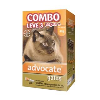 Antipulgas Combo Advocate Bayer para Gatos de até 4 Kg - 0.4 mL