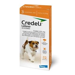 Antipulgas e Carrapaticida Elanco Credeli Lotilaner 225mg Para Cães De 5.5 a 11kg