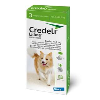 Antipulgas e Carrapaticida Elanco Credeli Lotilaner 450mg Para Cães De 11 a 22kg