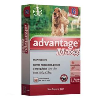Antipulgas e Carrapatos Bayer Advantage MAX3 para Cães de 10 a 25 Kg - 2.5 mL