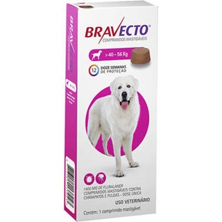 Antipulgas e Carrapatos Bravecto Para Cães De 40 a 56kg