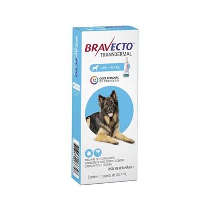 Antipulgas e Carrapatos Bravecto Transdermal Para Cães De 20 a 40kg