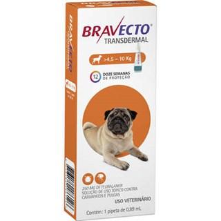 Antipulgas e Carrapatos Bravecto Transdermal Para Cães De 4.5 a 10kg