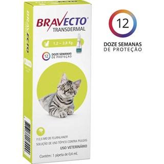 Antipulgas e Carrapatos Bravecto Transdermal Para Gatos De 1.2 a 2.8kg
