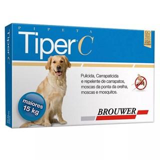 Antipulgas e Carrapatos Brouwer Tiper c Para Cães Acima De 15kg