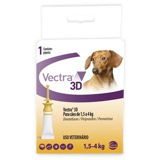 Antipulgas e Carrapatos Ceva Vectra 3D Cães de 1.5 a 4 Kg 0.8 mL