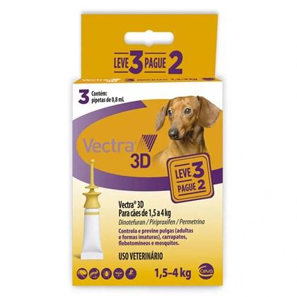 Antipulgas e Carrapatos Ceva Vectra 3d Leve 3 Pague 2 Para Cães De 1.5 a 4kg