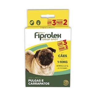 Antipulgas e Carrapatos Fiprolex Drop Spot Leve 3 Pague 2 Para Cães De 1 a 10kg