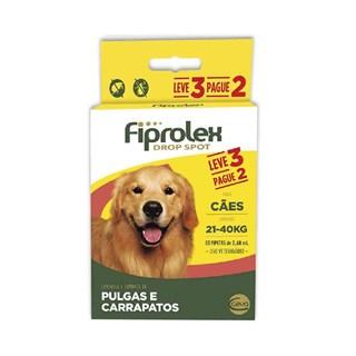 Antipulgas e Carrapatos Fiprolex Drop Spot Leve 3 Pague 2 Para Cães De 21 a 40kg