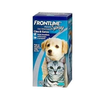 Antipulgas e Carrapatos Frontline Spray 100 mL para Cães e Gatos
